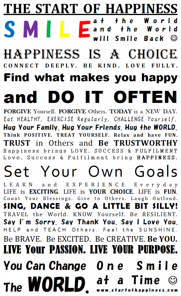 The Happiness Manifesto