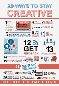 20 Ways to Stay Creative